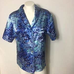 Victoria's Secret Button Down Top pajama shirt sm